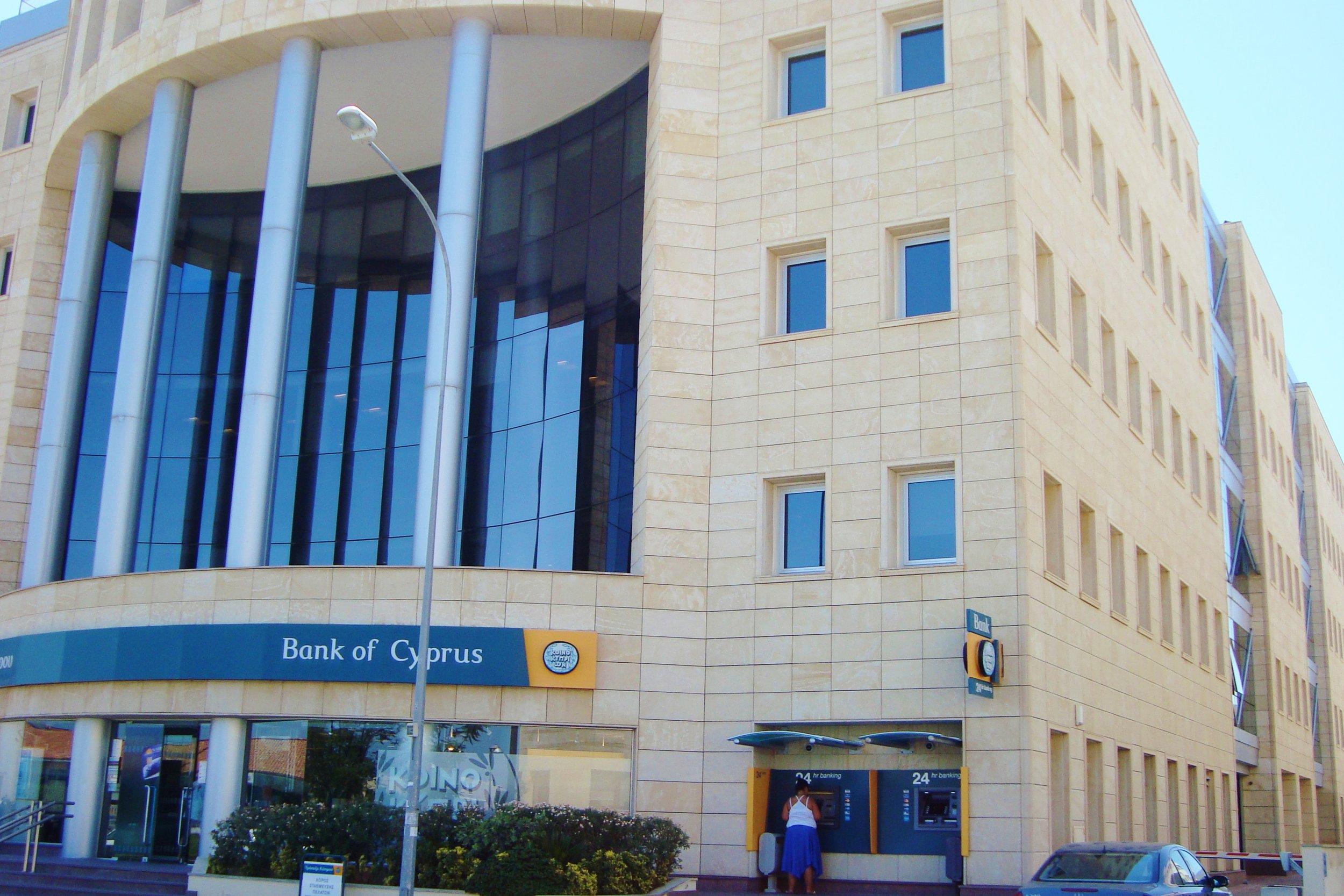 The Bank of Cyprus in Nicosia