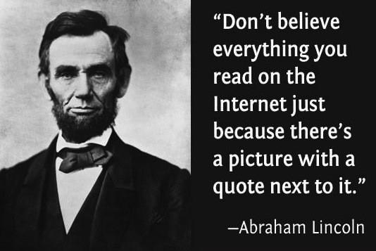 Lincoln-fake-quote