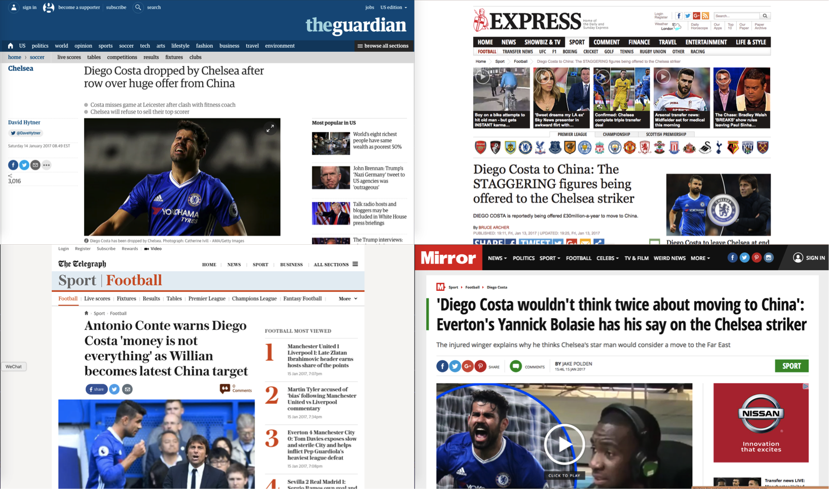 Just a few of the headlines