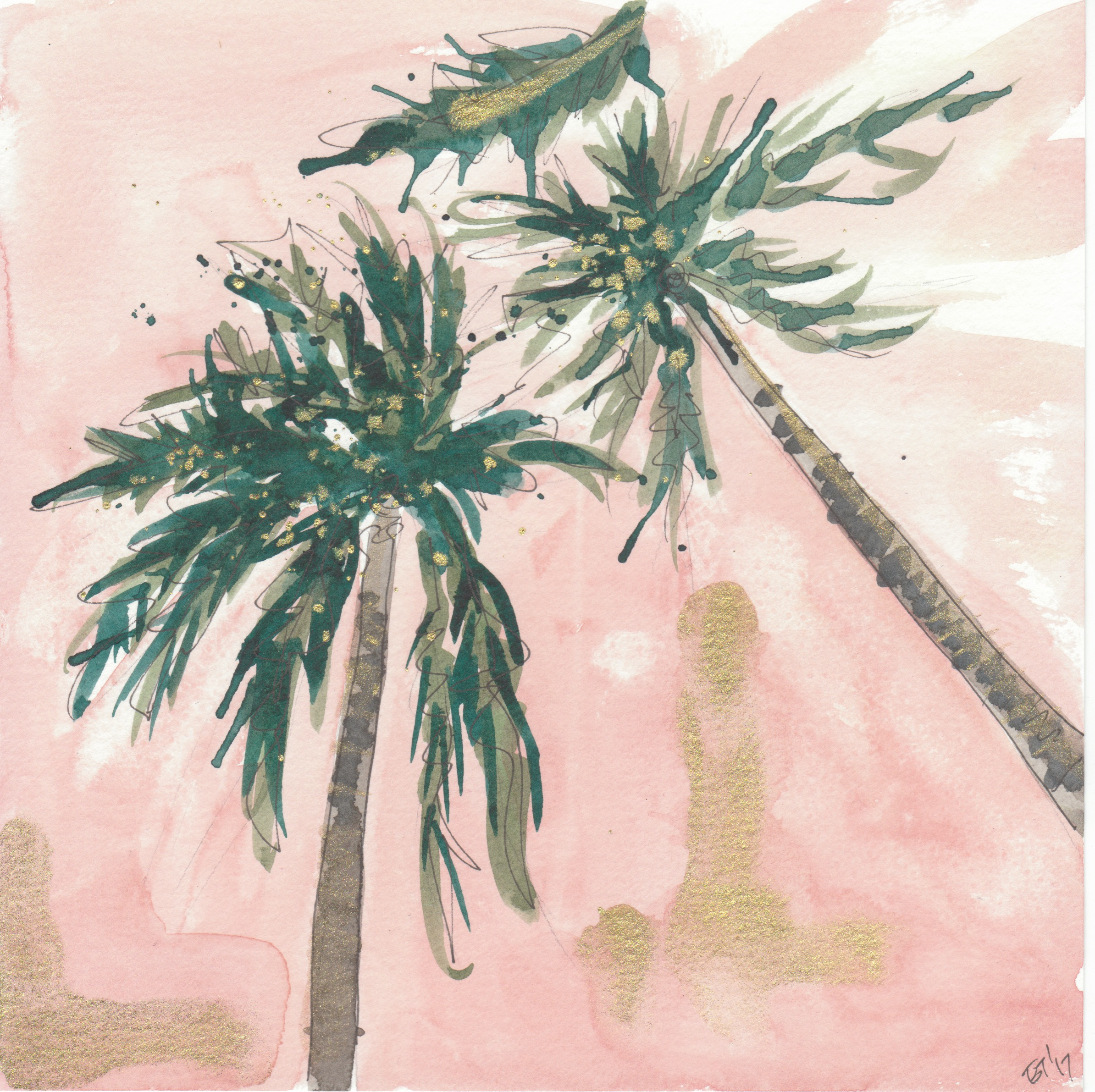 Palm and Pink