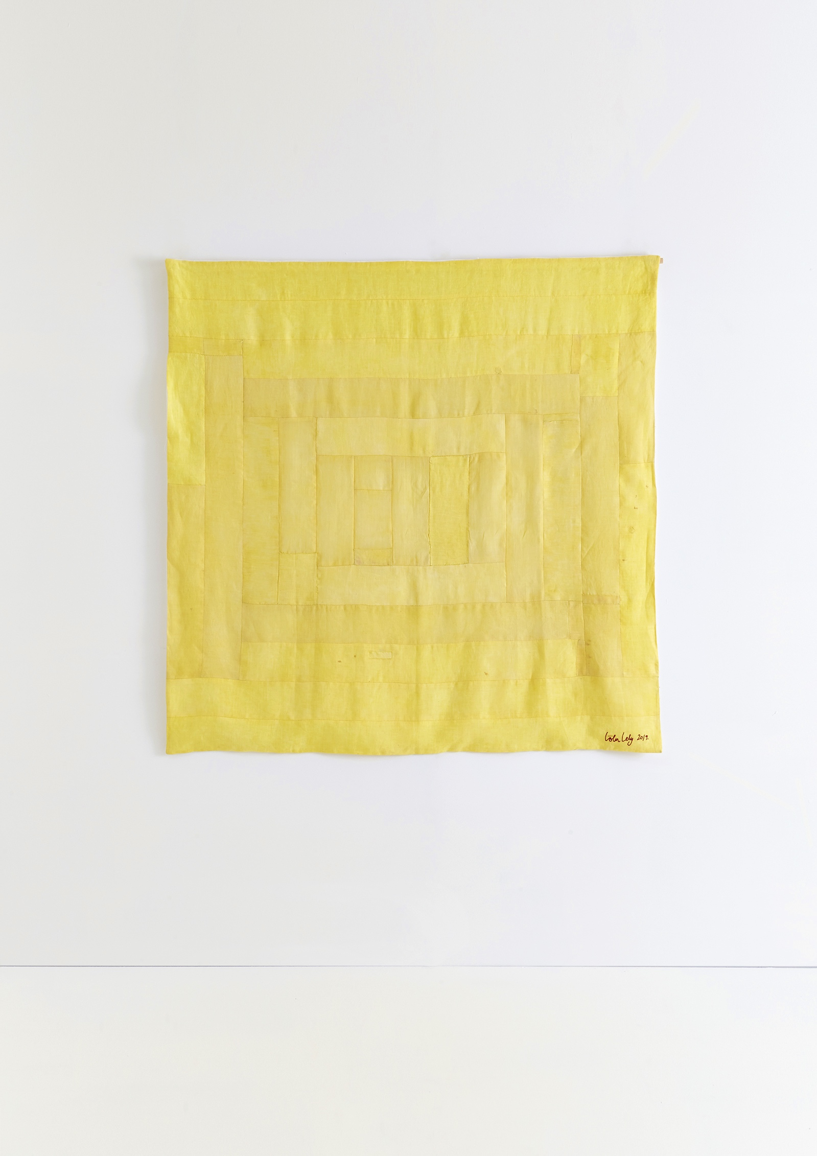 Yellow Field  -  Patchwork wall hanging