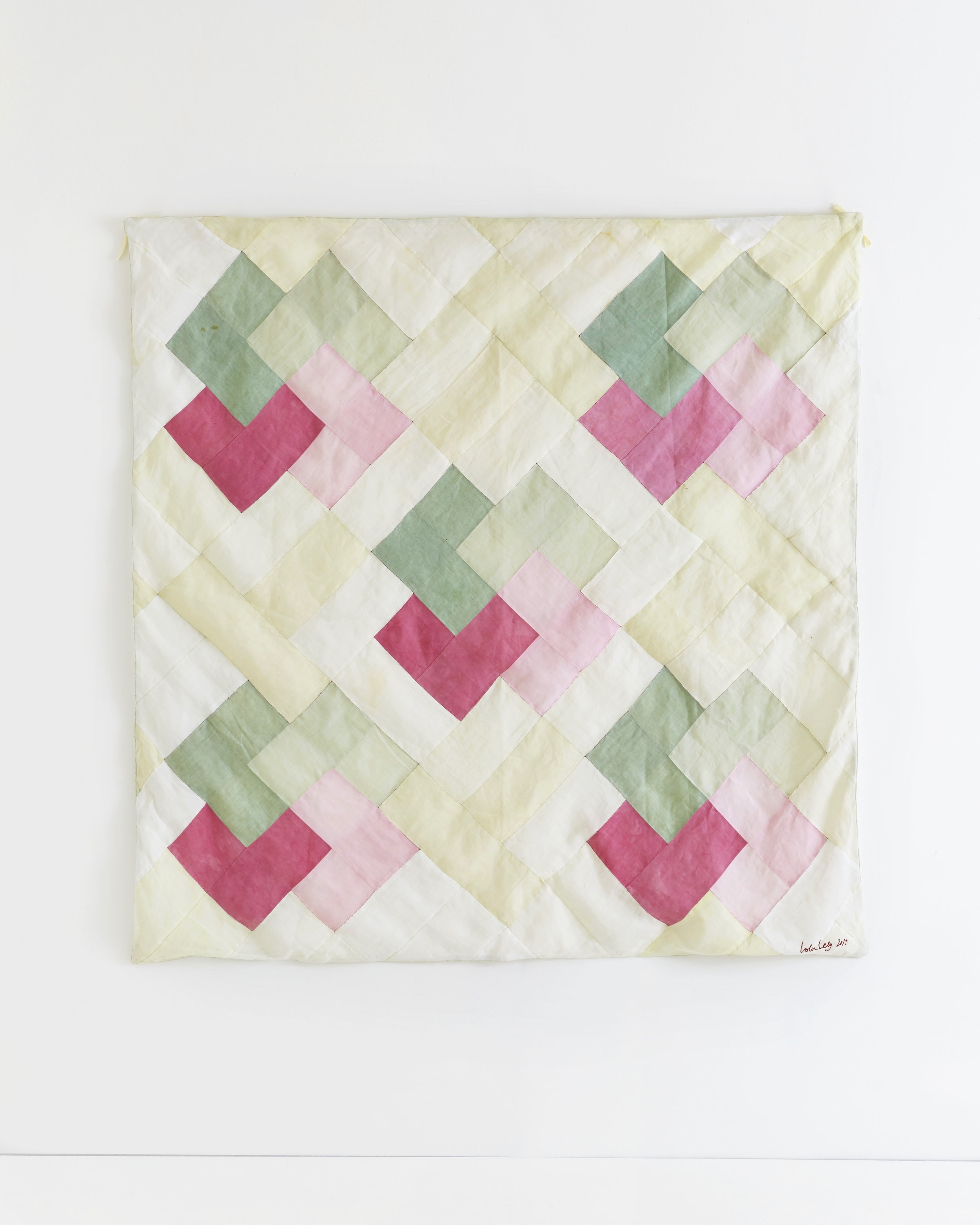 spring  -  Patchwork wall hanging