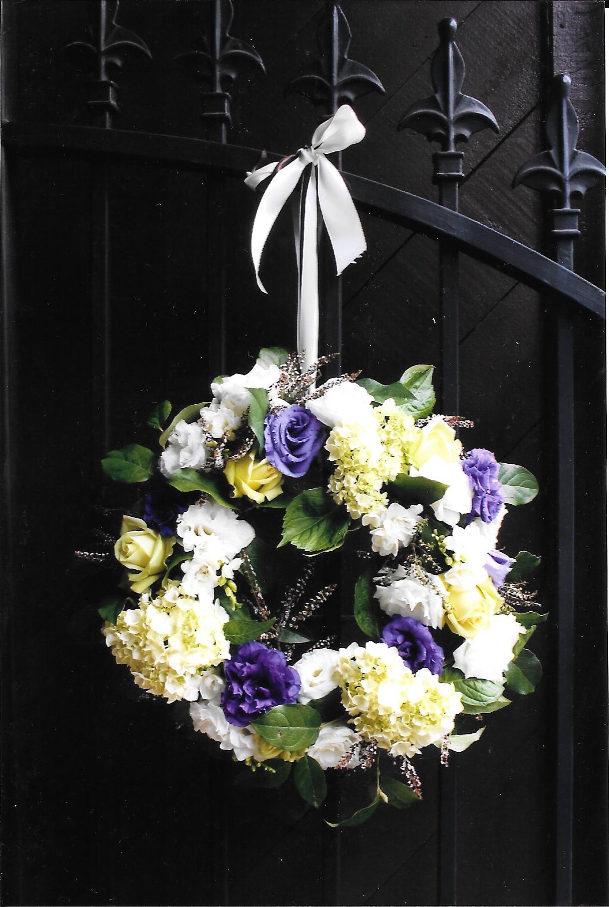 A Custom Floral Wedding Wreath