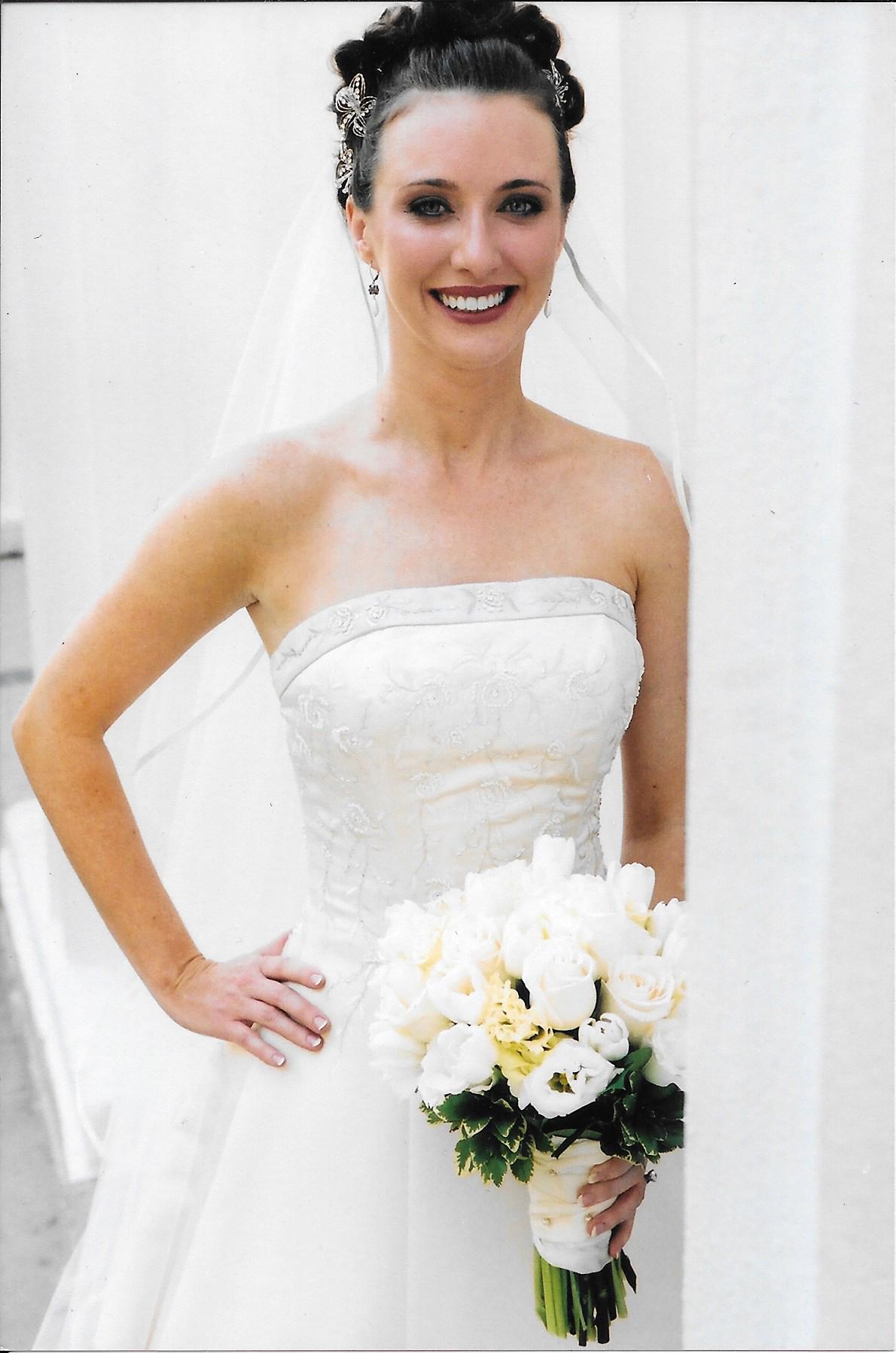Beautiful White Flowers with A Beautiful White Dress