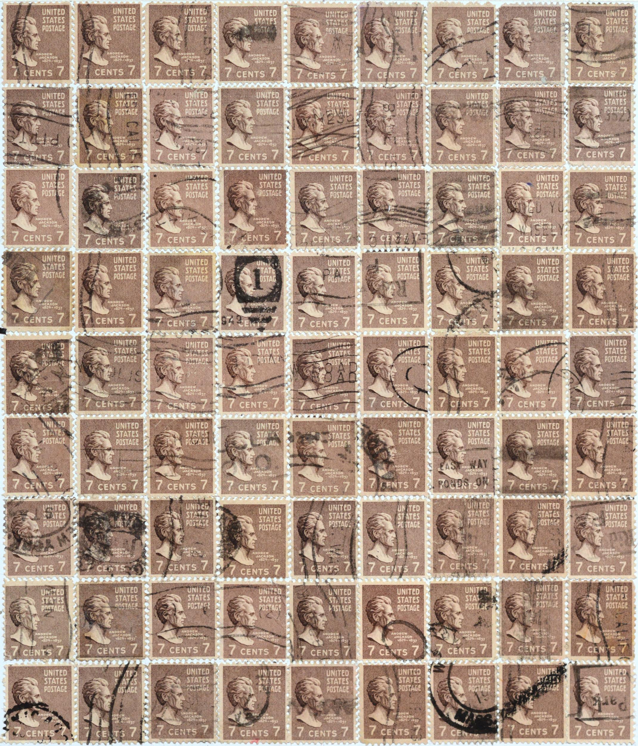 Andrew Jackson, 7 cents, 2012