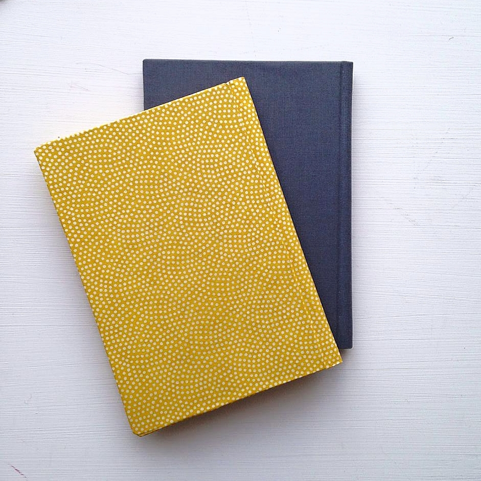 Hard-backed Single-section book x 2
