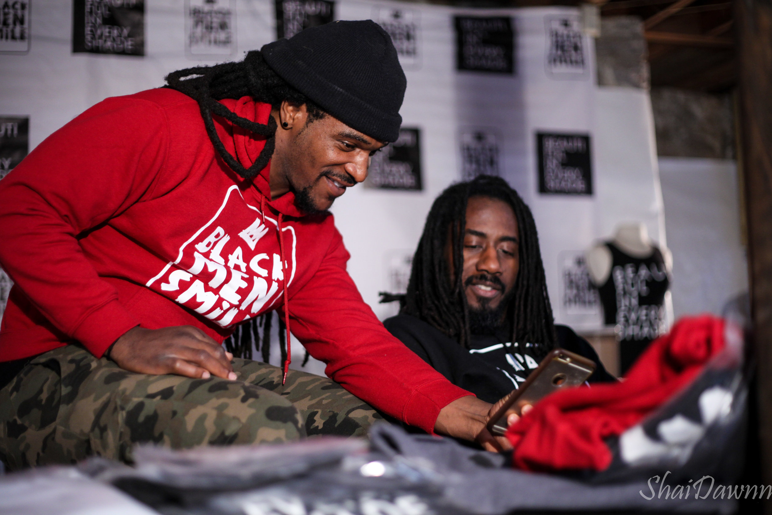 Black Men Smile® Co-Directors Devan Dunson and Carlton Mackey at Headquarters in Atlanta, GA