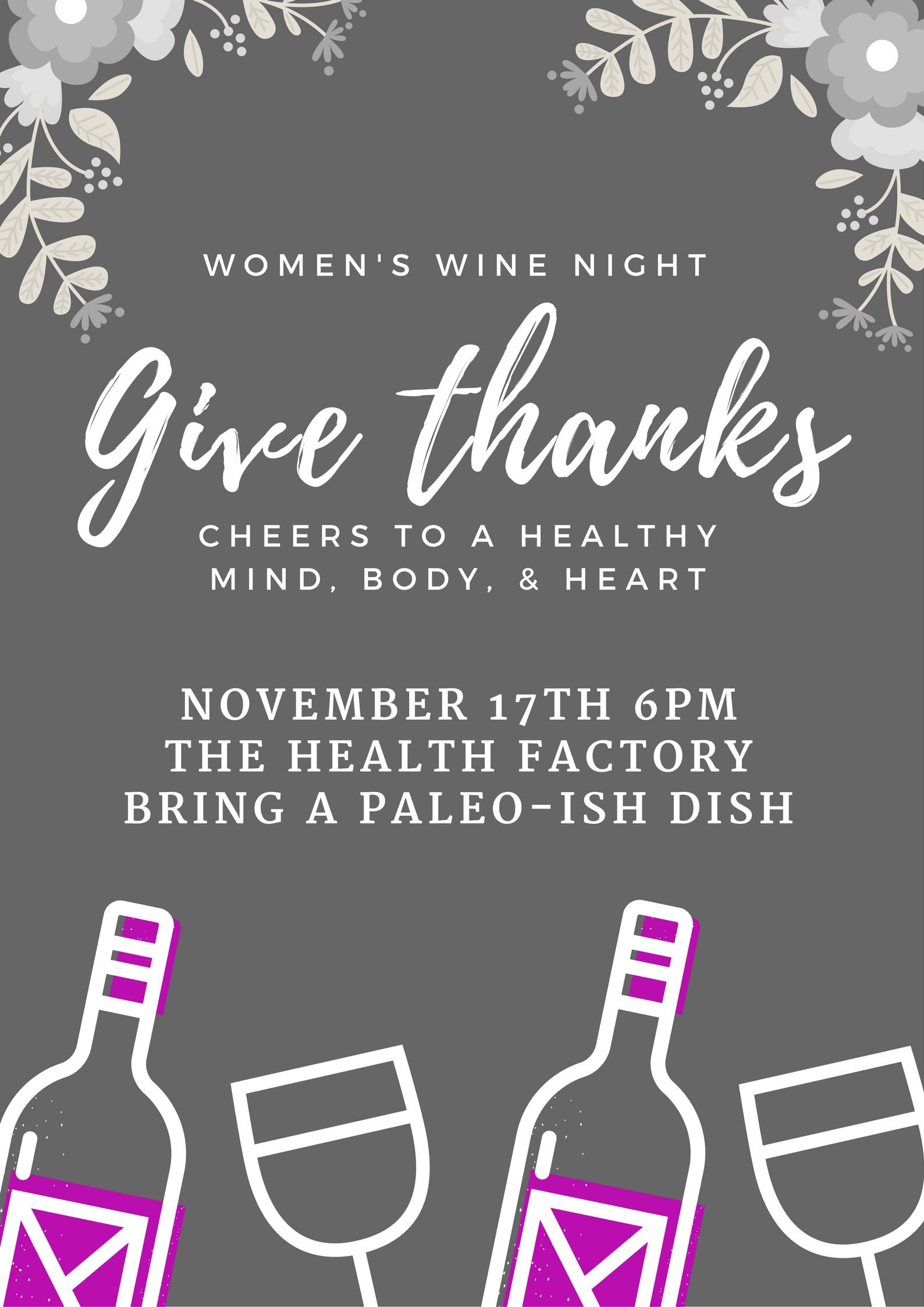 womens wine night