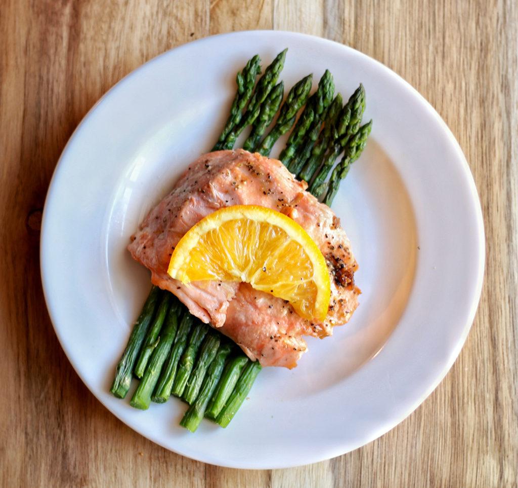 Honey Orange Baked Salmon