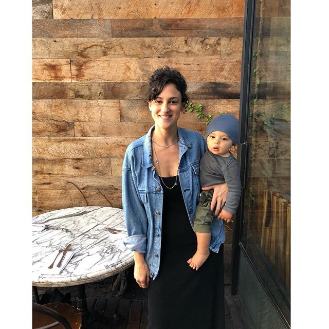 Me and the little dude.  Learning what we are capable of.... Like skipping naps to eat swanky brunch on Abbot Kinney while spying on celebs. . . . . . #balance #love #newmoon #family #medicine #vacationboos