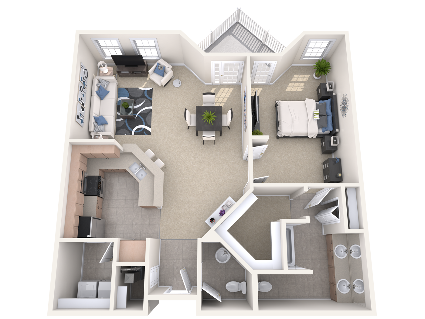The Danforth - one bedroom apartment at the manor