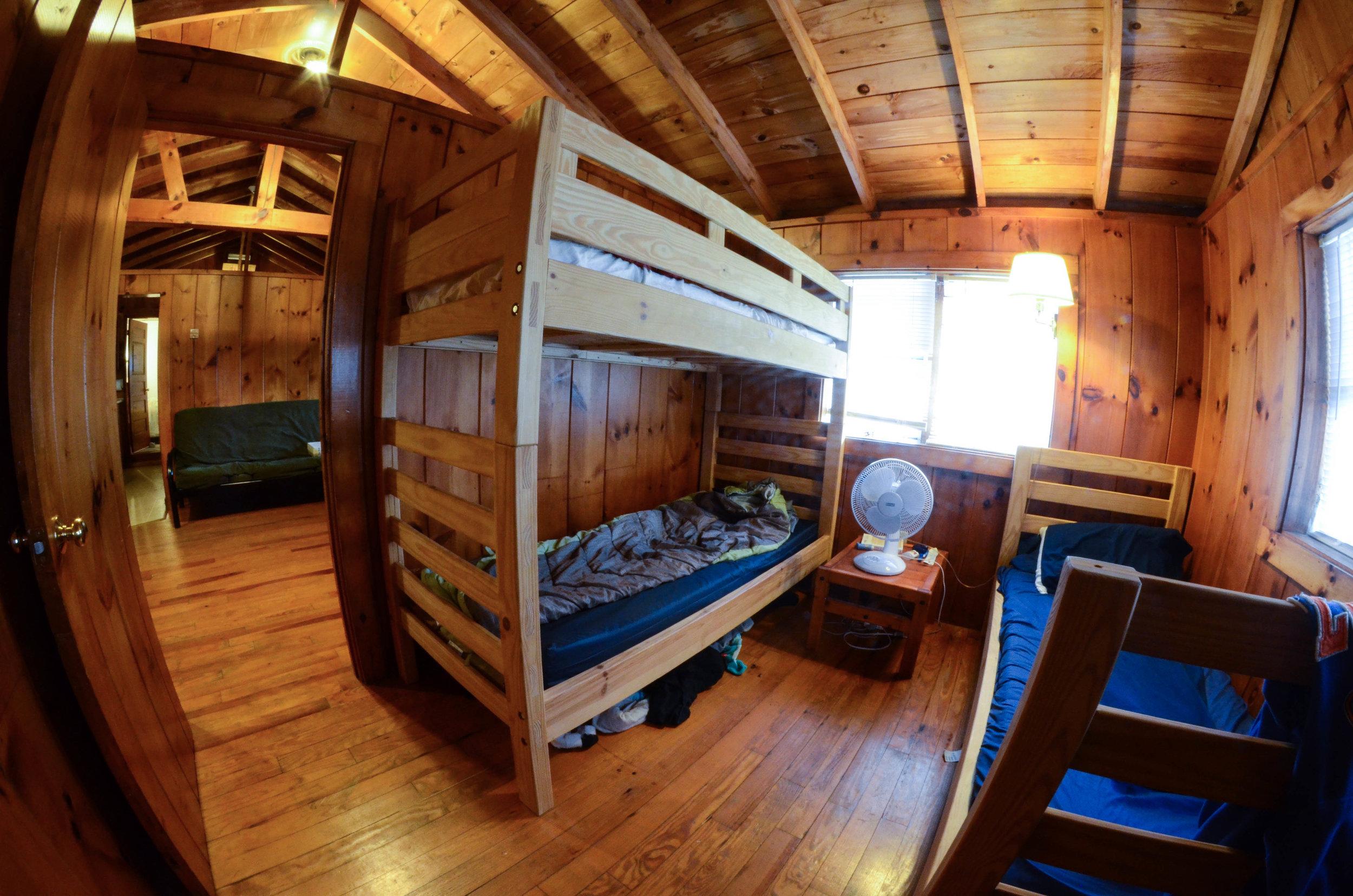 Rental Property Cabin Interior Bunk Beds