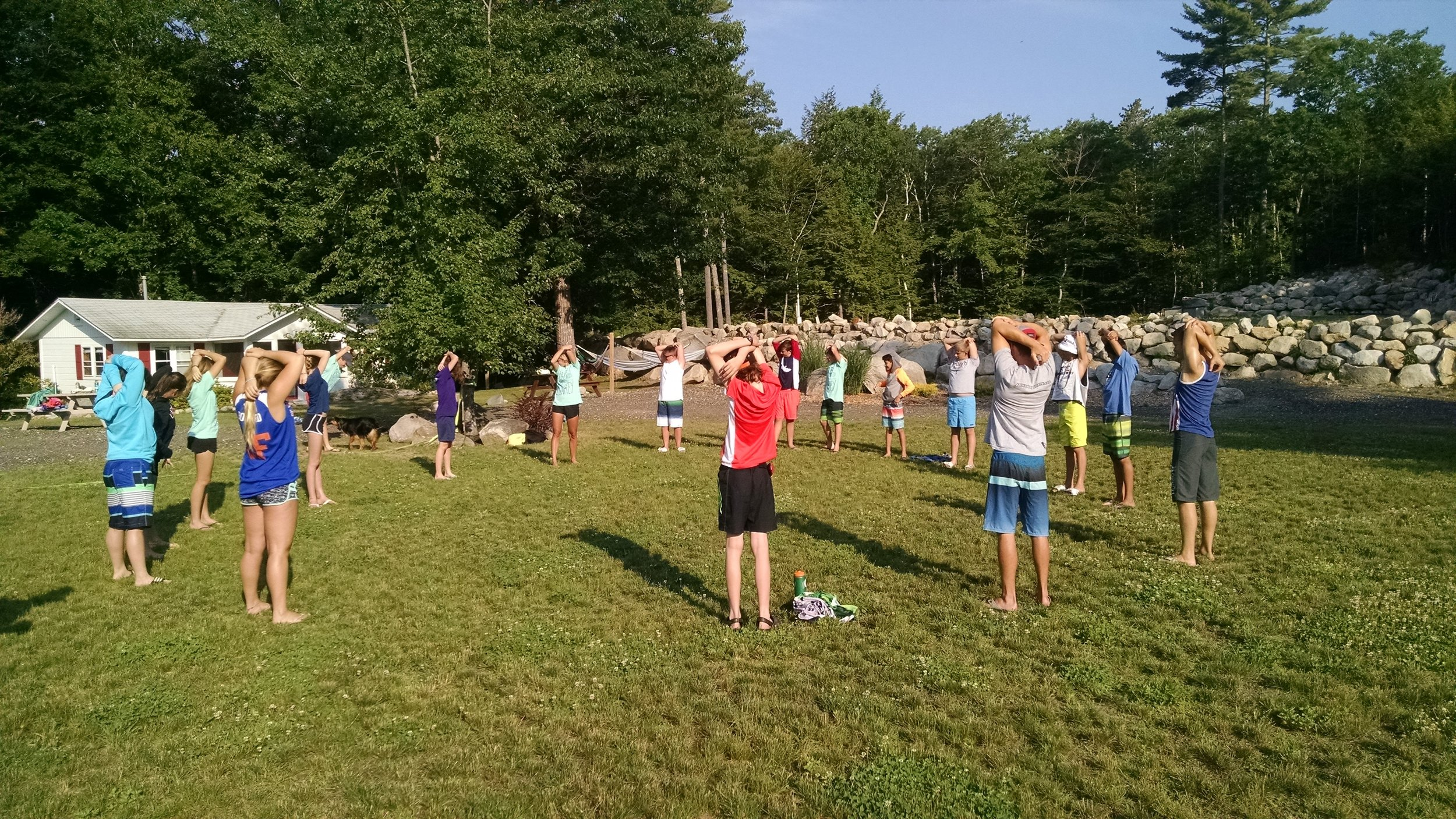 Early AM group stretch.