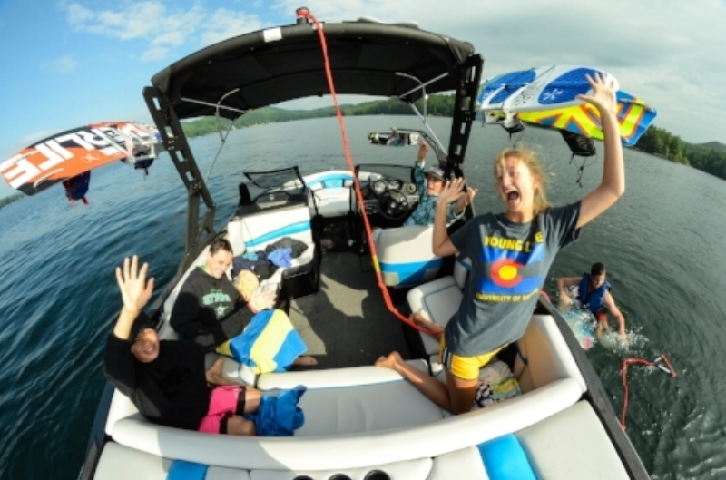 Summer Camp Boat Fun Kids Counselors