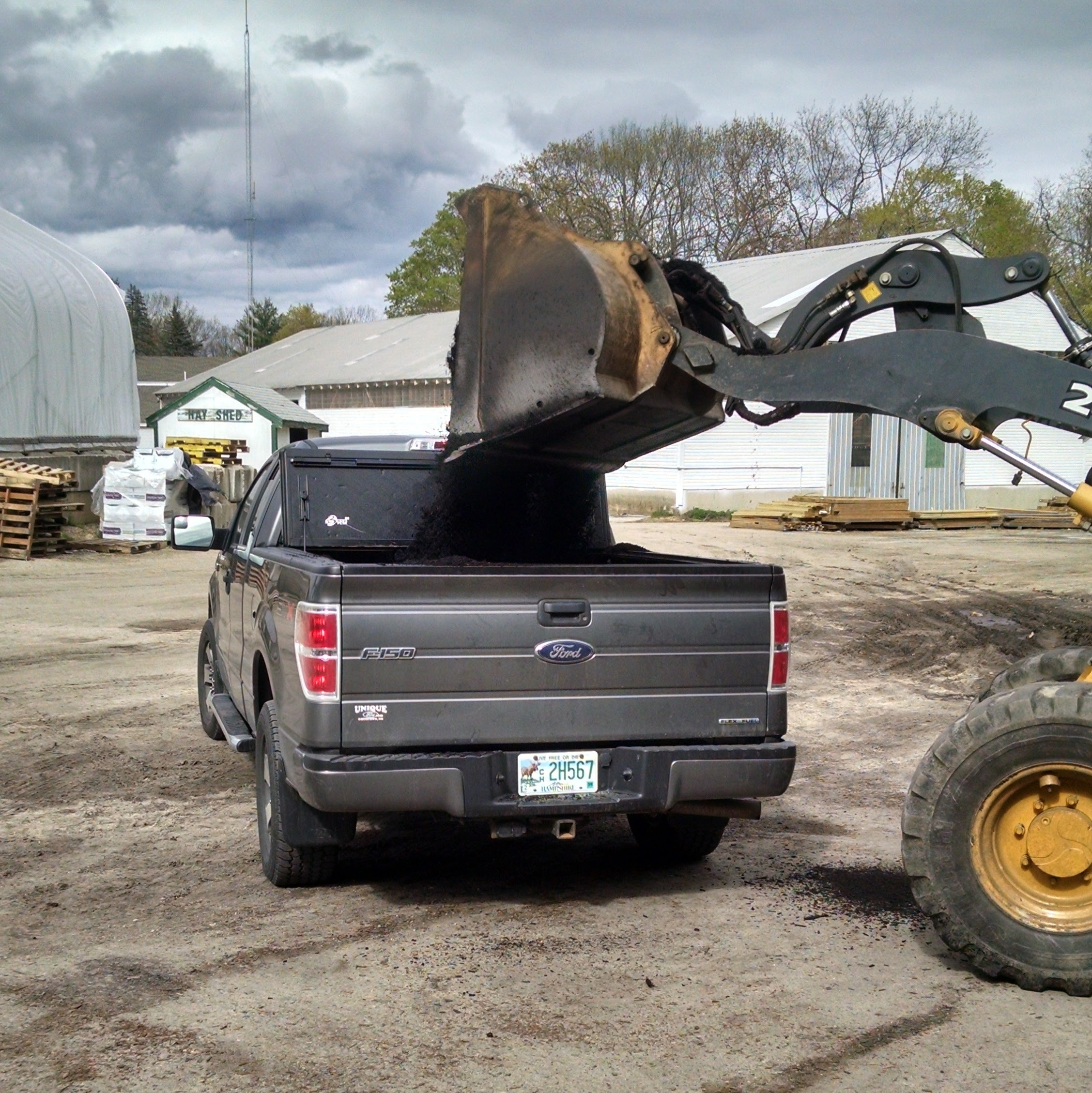 Just grabbing one of many loads of mulch. #trucklife