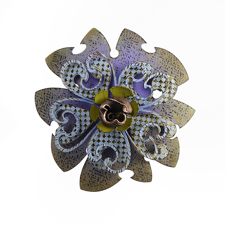 Rosette Brooch 44-16  |  2016  |  bronze  |  4 x 4 x 1.5 inches