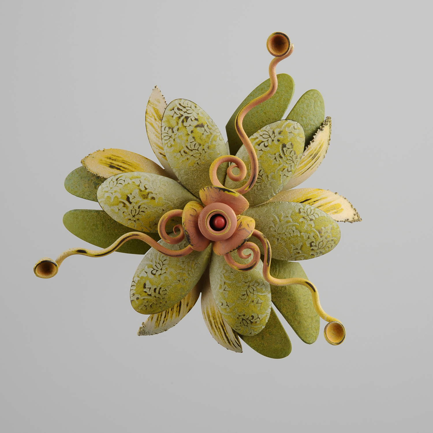 Rosette Brooch 24-16  |  2016  |  bronze, copper  |  4 x 4 x .75 inches