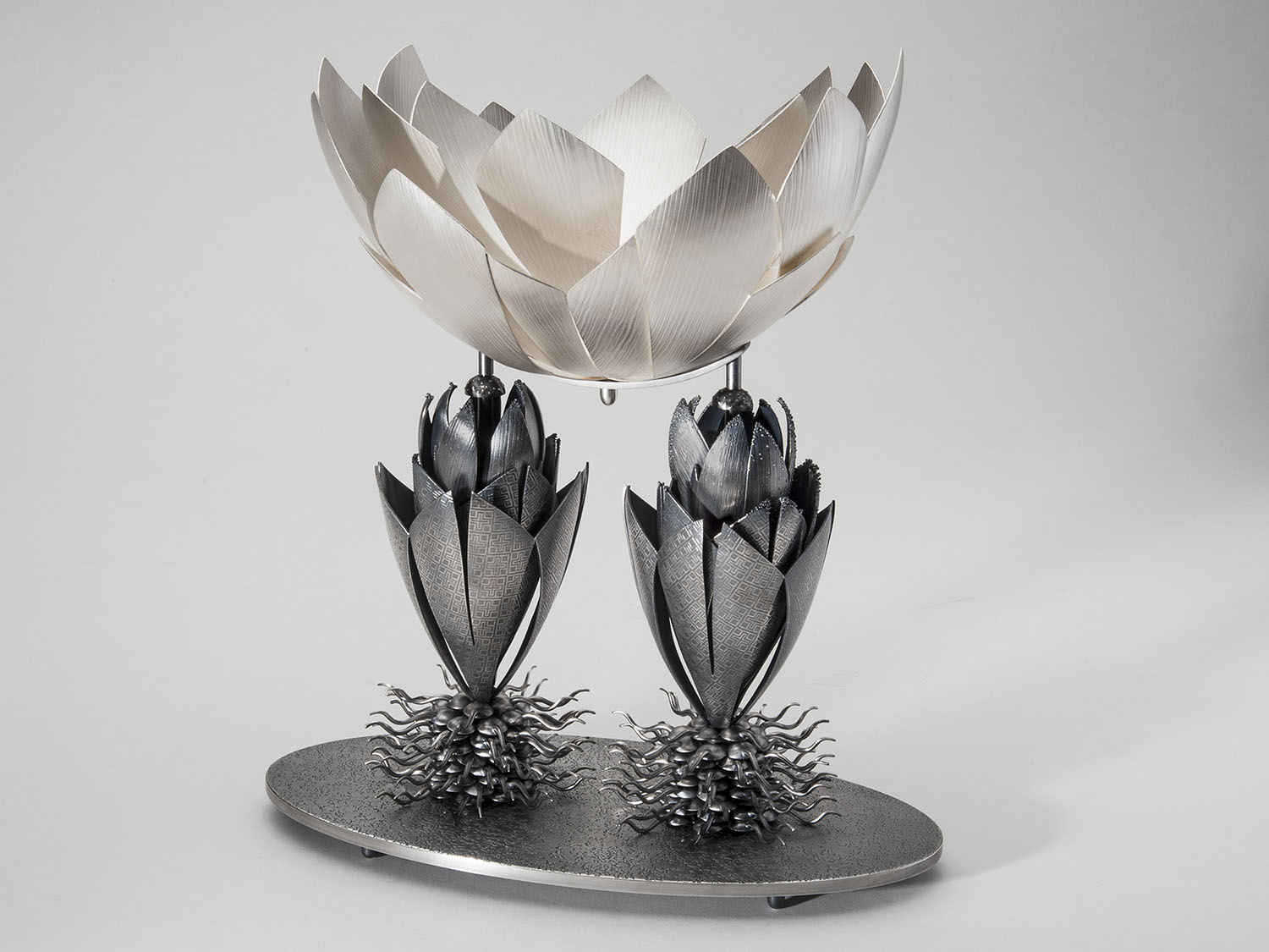 Corbeille  |  2015  |  sterling silver, bronze, silver plate  |  13.5 x 12 x 6 inches