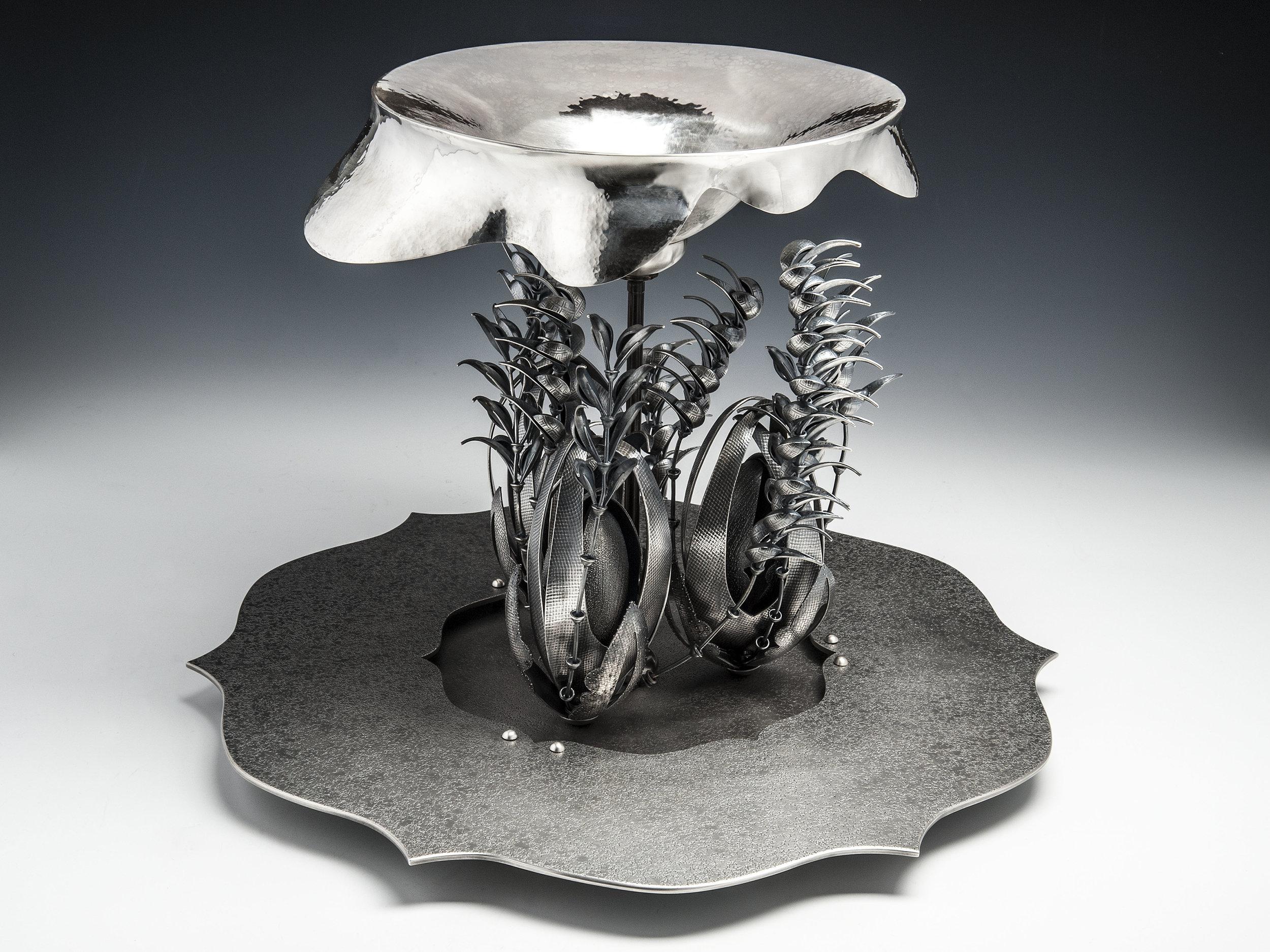 Copse  |  2015  |  958 silver, bronze, silver plate  |  13 x 18 x 18 inches
