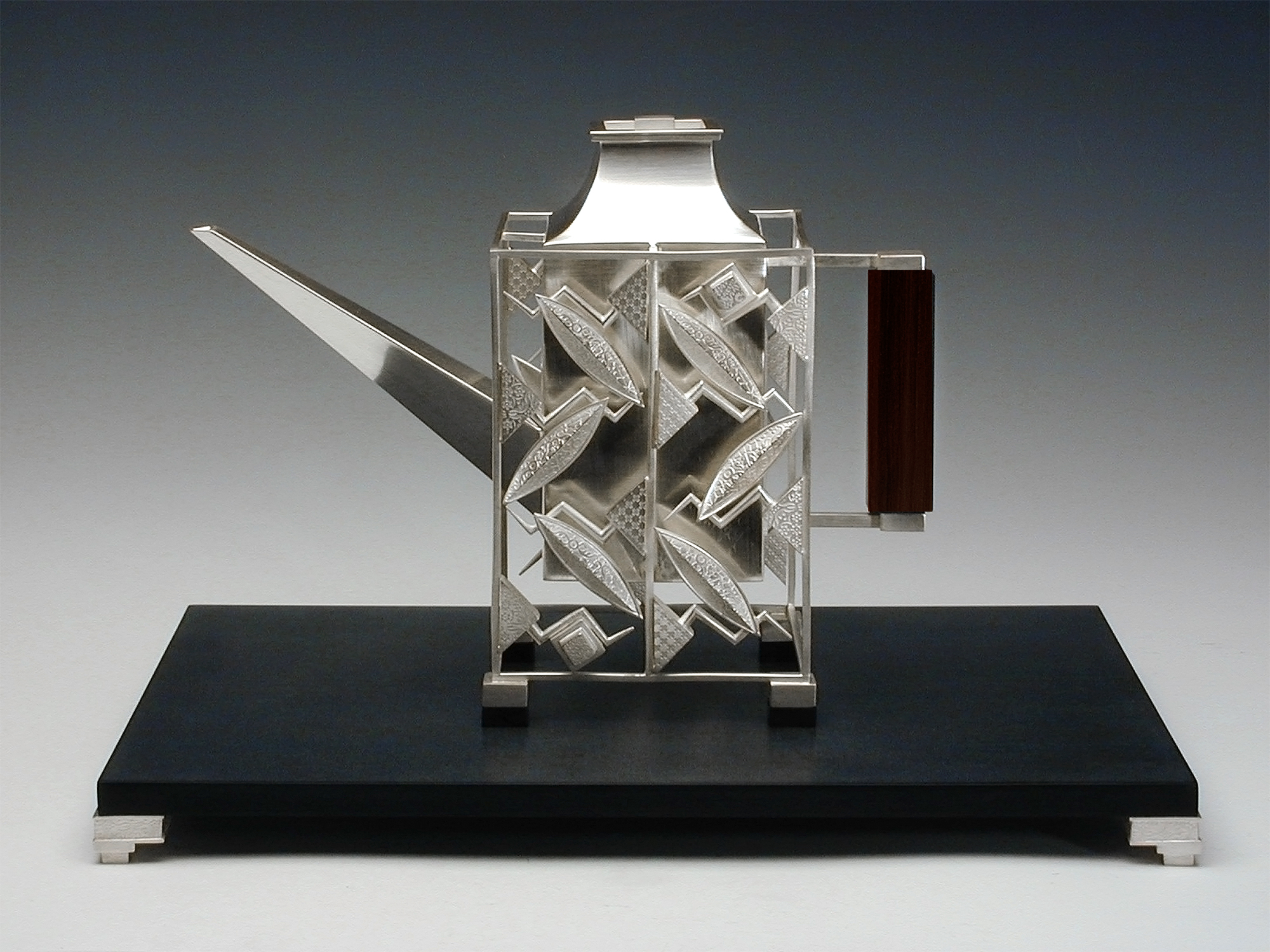 Square Teapot  |  2001  |  sterling silver, micarta  |   12 x 12 x 8.5 inches