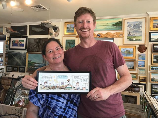 "Congratulations to my friend and customer Will Wilson for winning best newspaper comic strip for ""Wallace the Brave"" at the 73rd Reuben Awards!  #bestcomicstrip #goodcomedy #jamestownri #handmade #wallacethebrave #laughoutloud #newportri #wickfordri #northkingstownri #nationalsyndication"