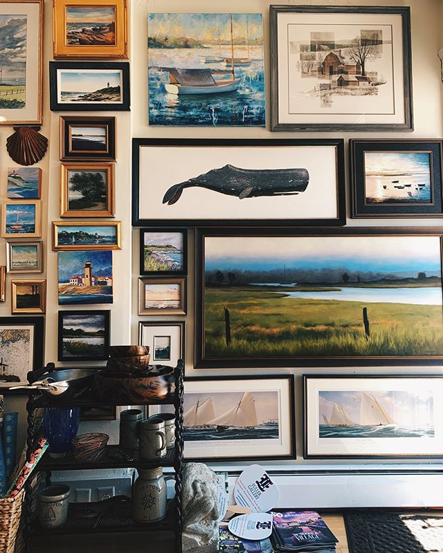 Come support your local artists and browse through the many captivating paintings we display! 🐋