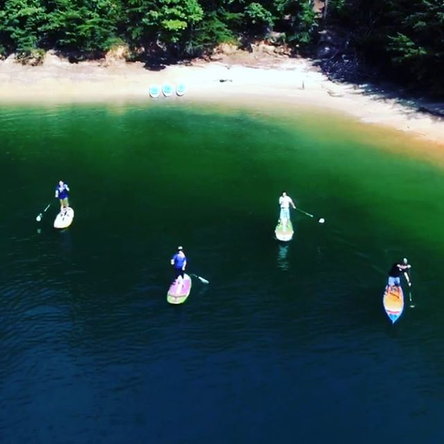 Ahhhyeah!#paddleboarding #friends #lakedaze #dream