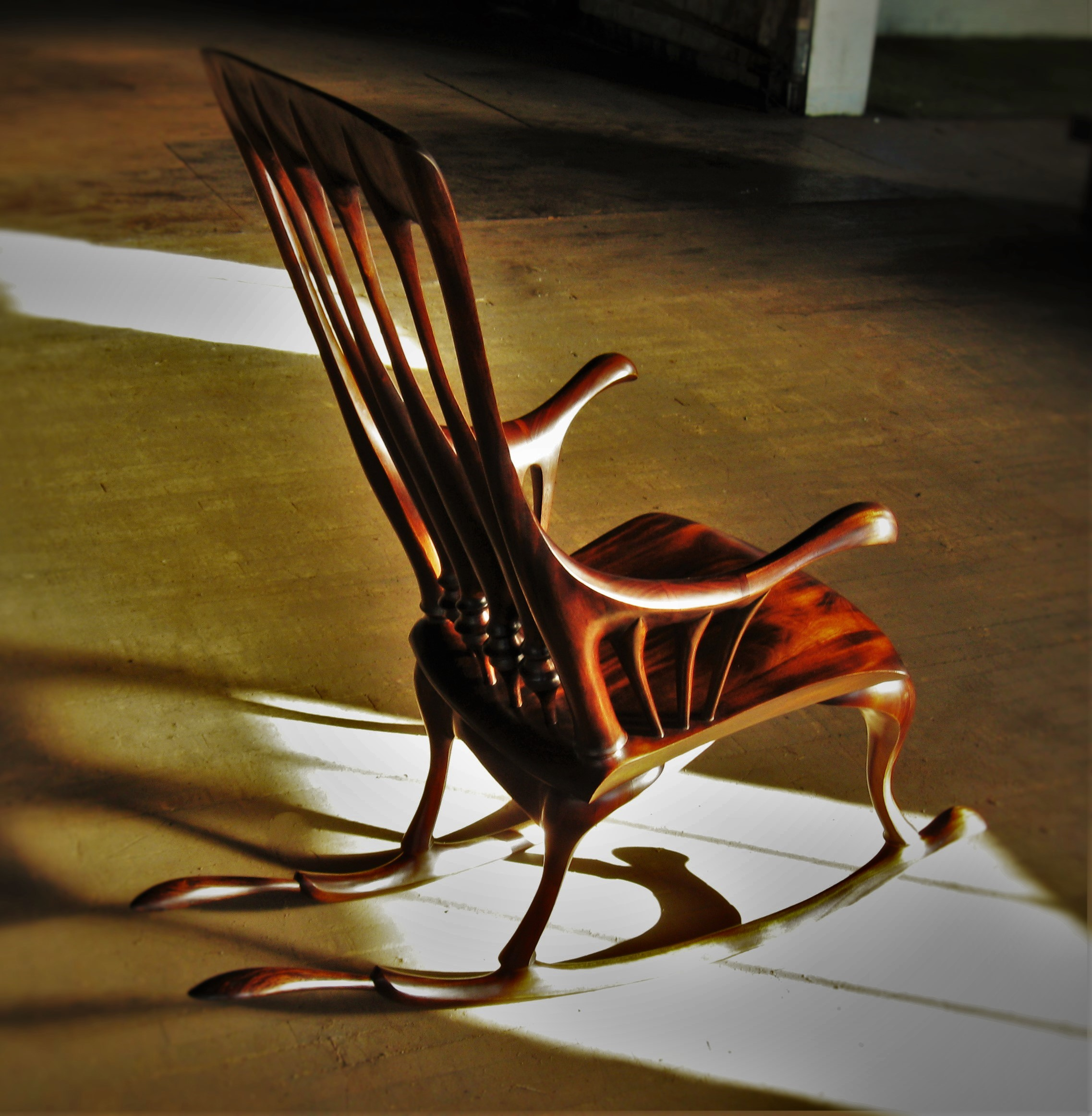Madeline Rocking Chair   Starting at $4,950   Shown in Dyed Mahogany and Cocobolo