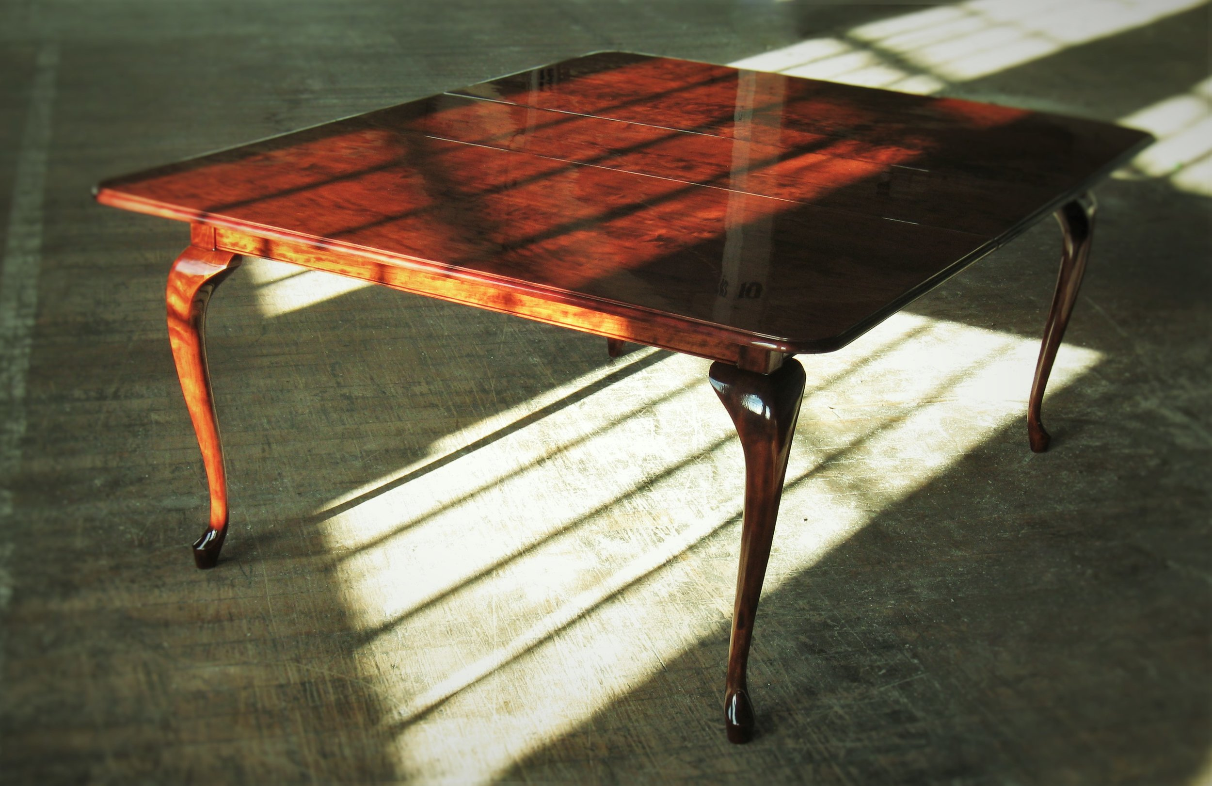 Queen Ann Table   As shown $5,950  Figured Cherry