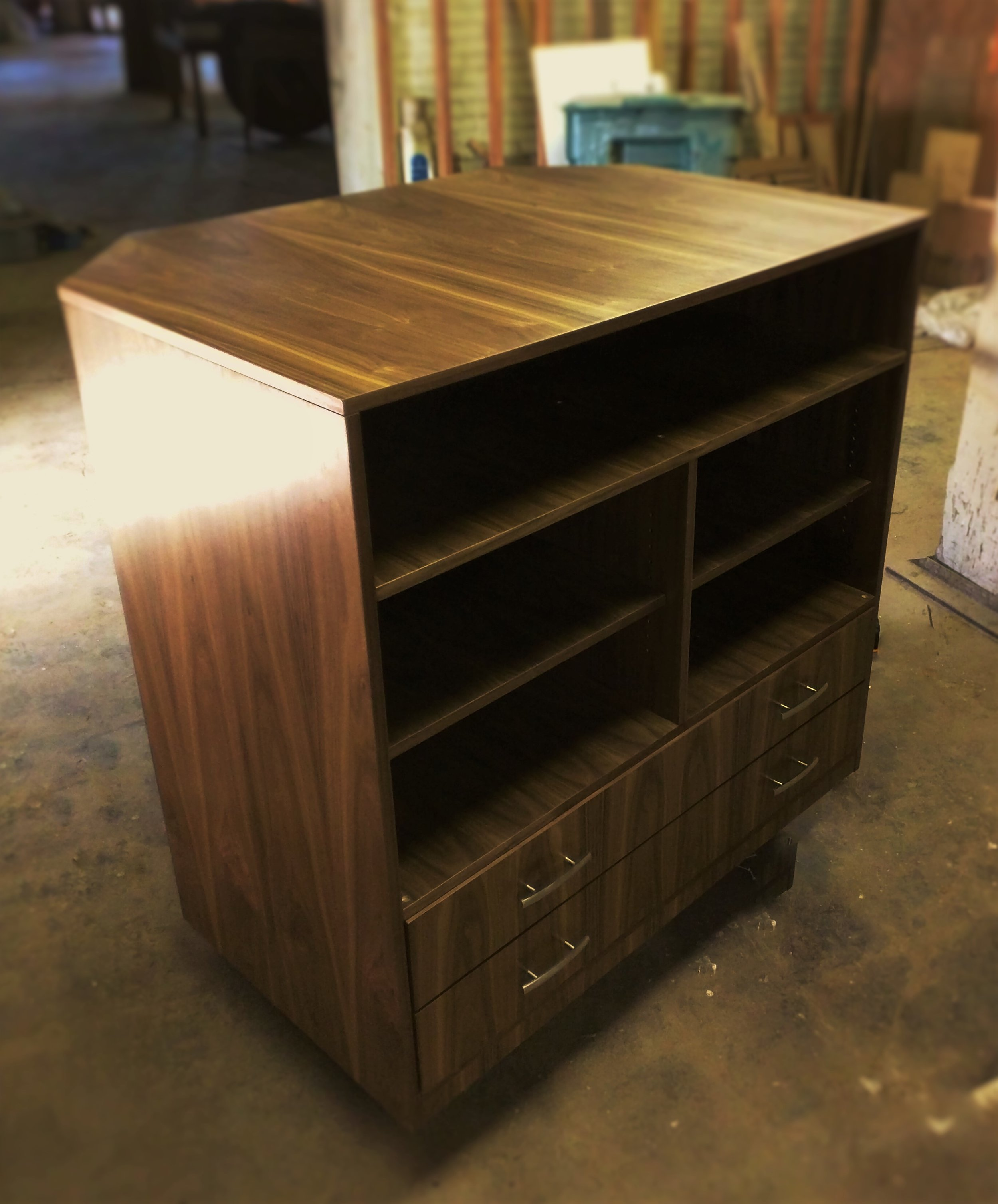 Floating Media Center    Starting at $2,950     Shown in Walnut