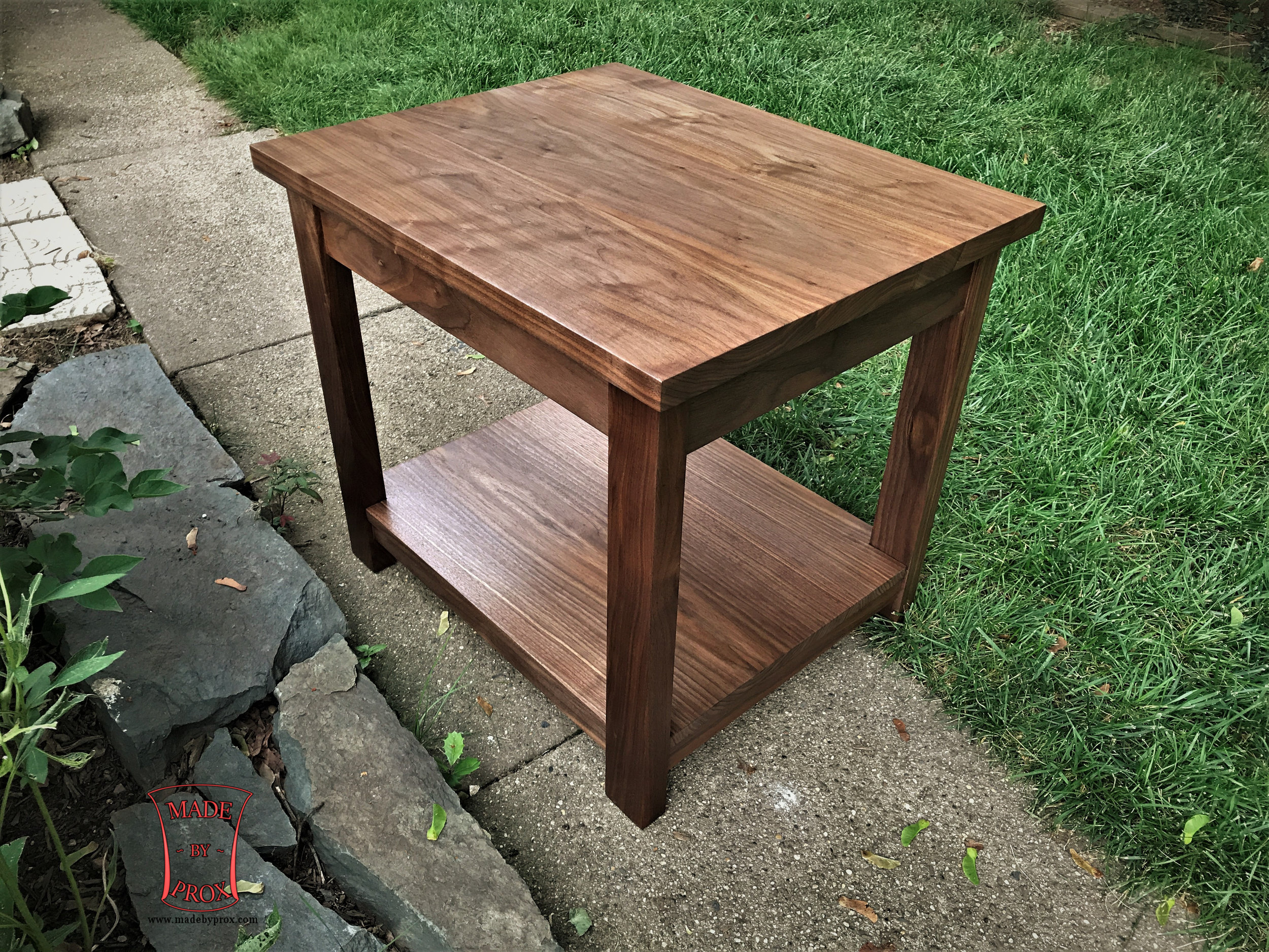 Contemporary End Table   Starting at $795  Shown in Walnut.