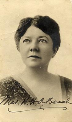 Composer Amy Beach, born in Henniker, NH