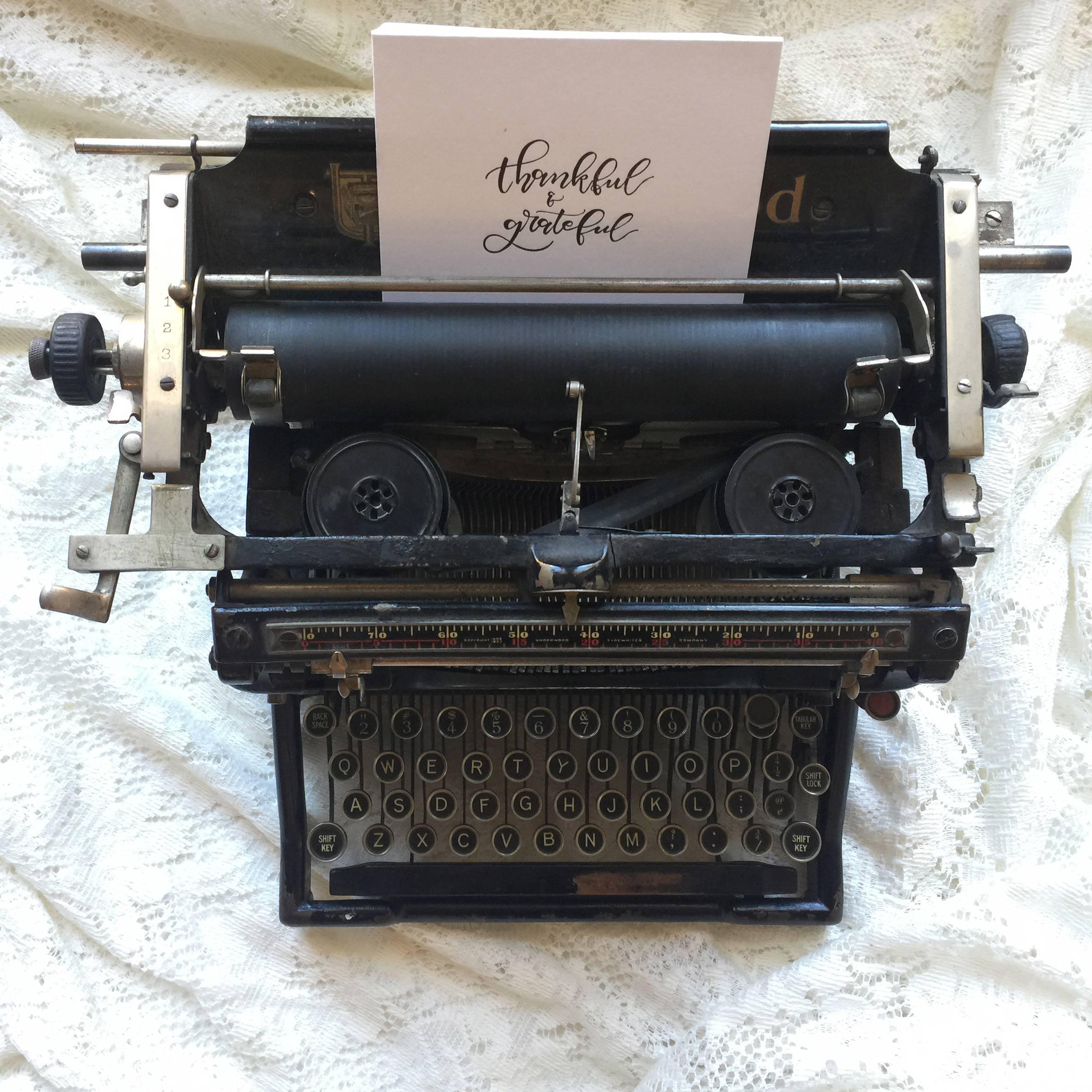 Letterpress Card and Vintage Typewriter