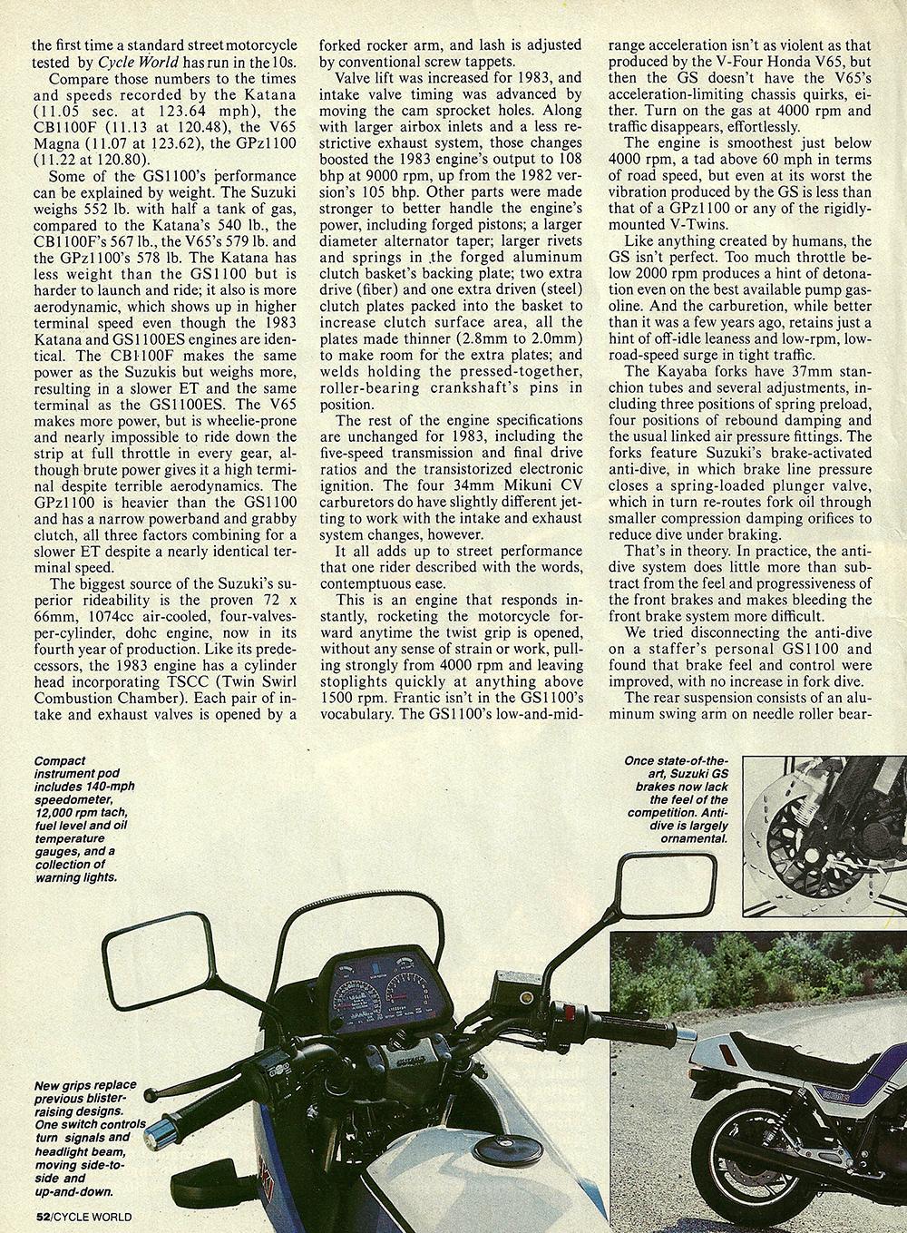 1983 Suzuki GS1100E road test 03.jpg