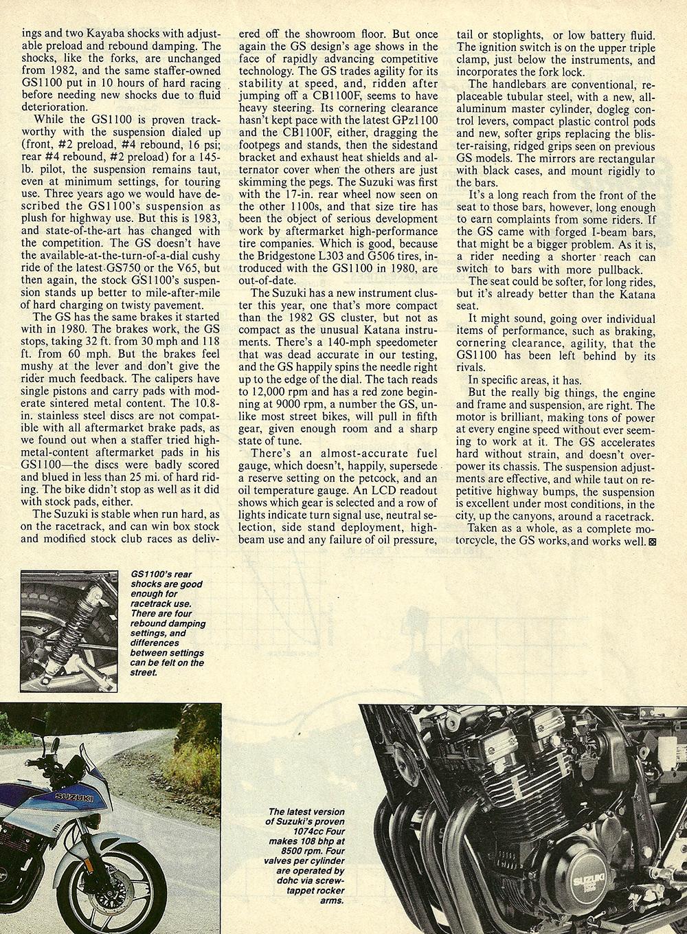 1983 Suzuki GS1100E road test — Ye Olde Cycle Shoppe