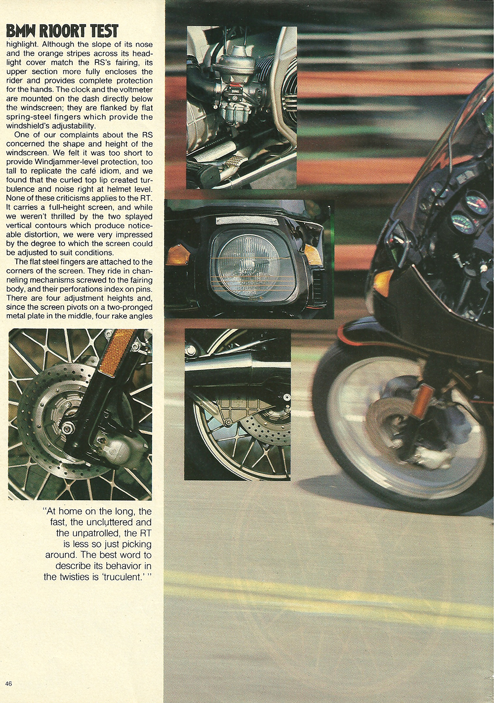 1979 BMW R100RT road test — Ye Olde Cycle Shoppe