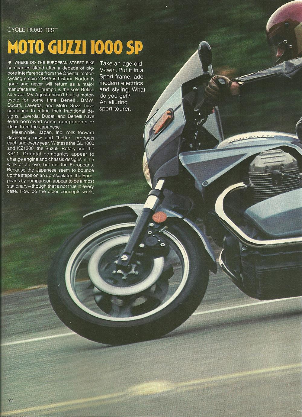 1979 Moto Guzzi 1000 SP road test 01.jpg
