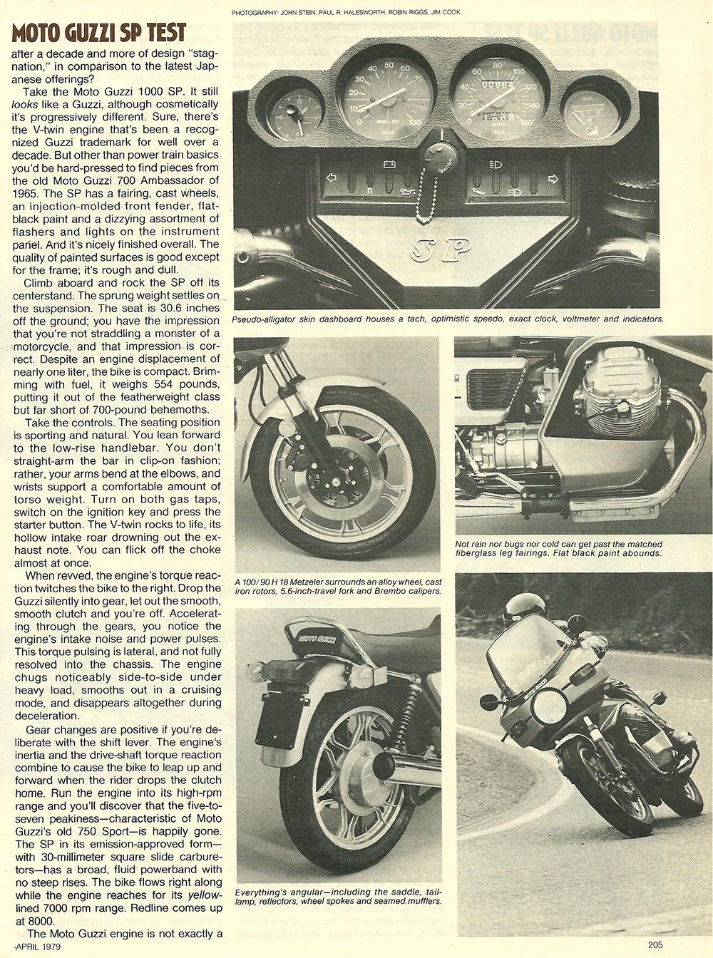 1979 Moto Guzzi 1000 SP road test 04.jpg