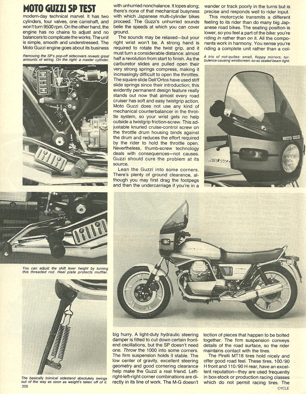 1979 Moto Guzzi 1000 SP road test 05.jpg