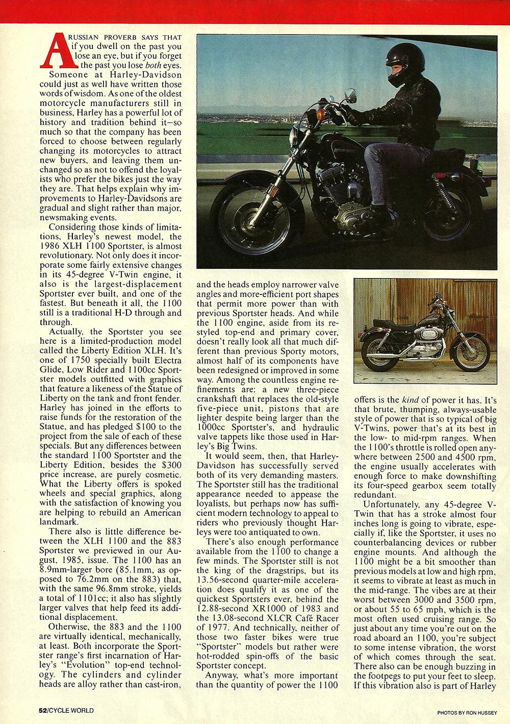 1985 Harley Davidson XLH 1100 Sportster road test 03.jpg