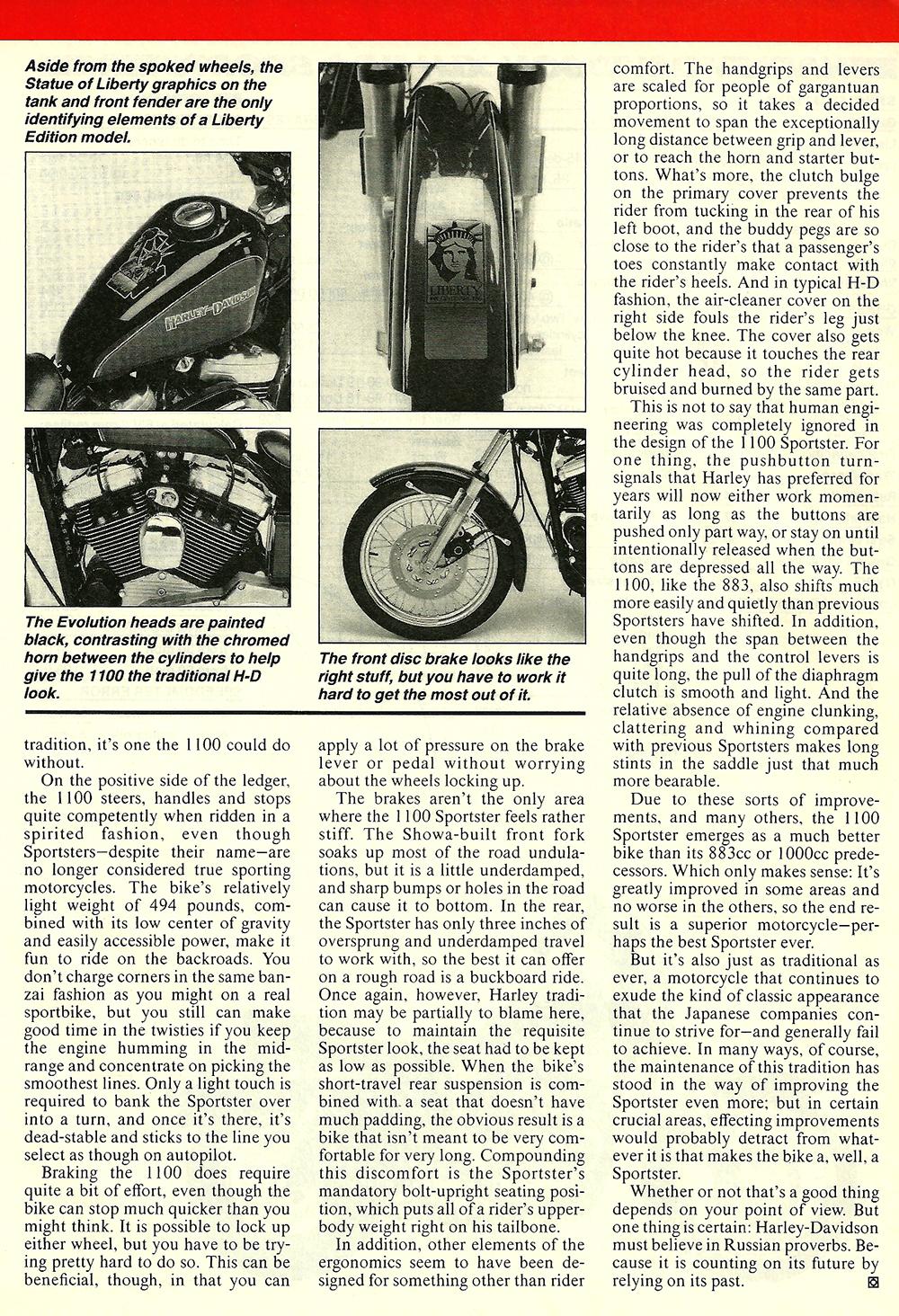 1985 Harley Davidson XLH 1100 Sportster road test 04.jpg