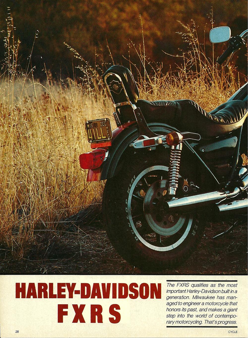 1982 Harley-Davidson FXRS road test 01.jpg