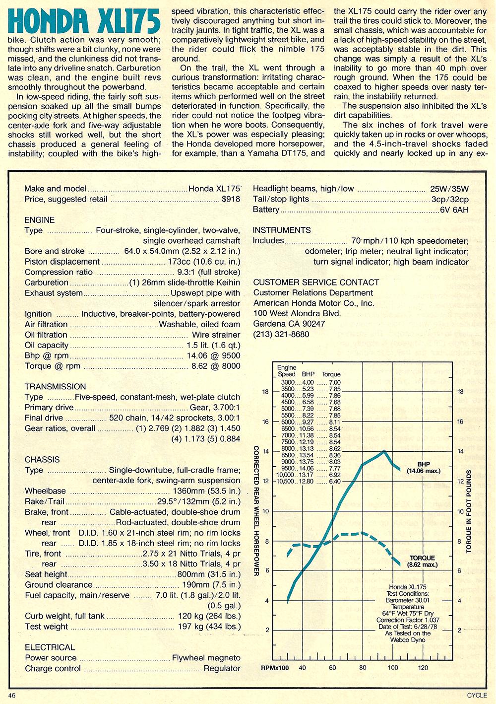 1978 Honda XL175 road test 04.jpg