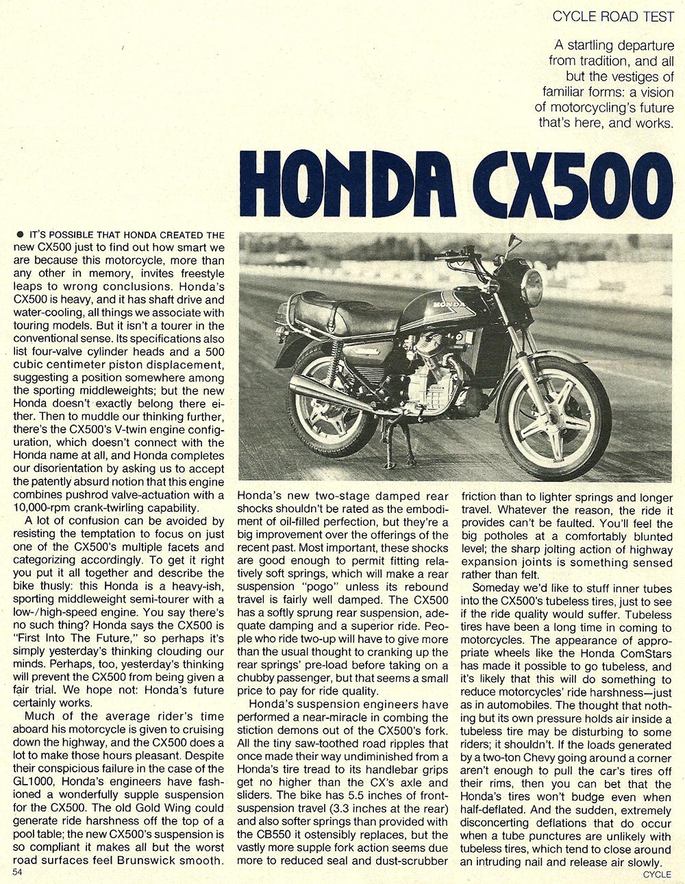 1978 Honda CX500 road test 01.jpg