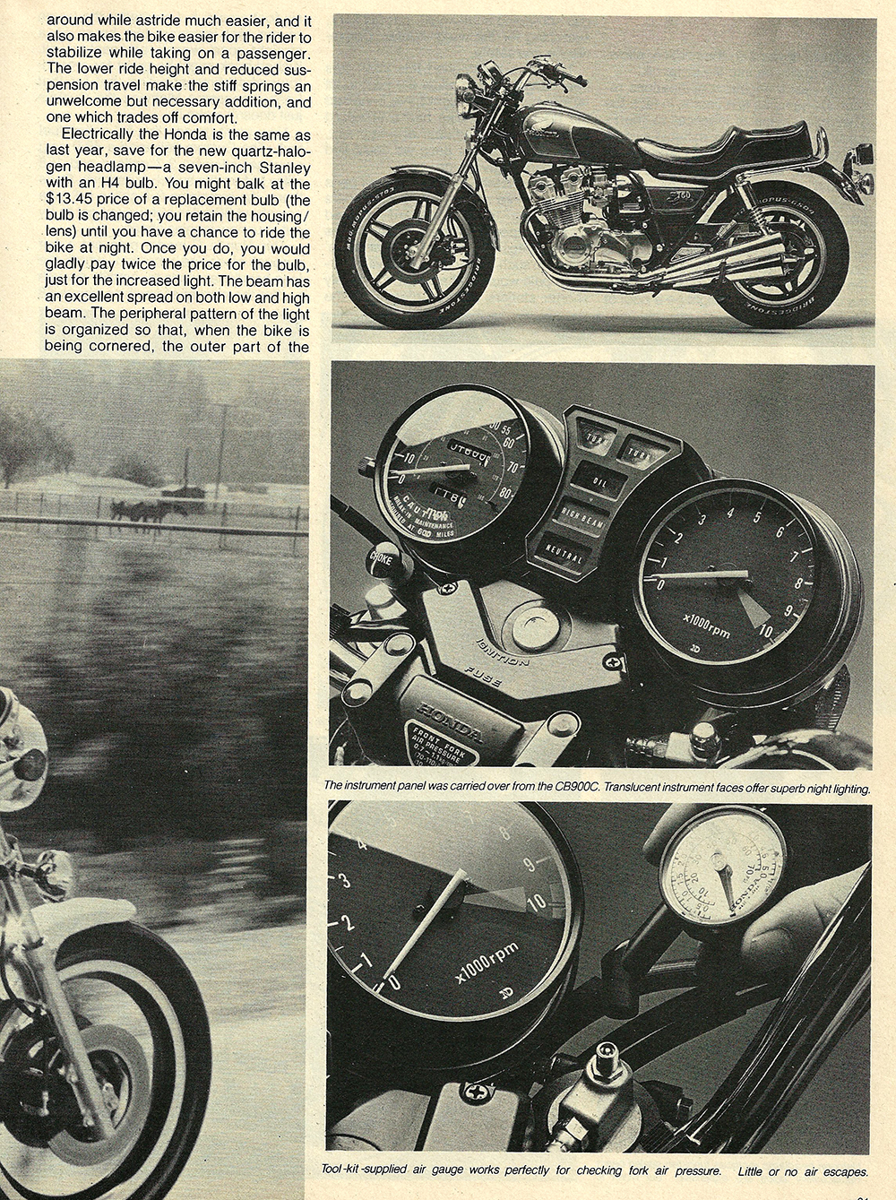 1980 Honda CB750C road test — Ye Olde Cycle Shoppe