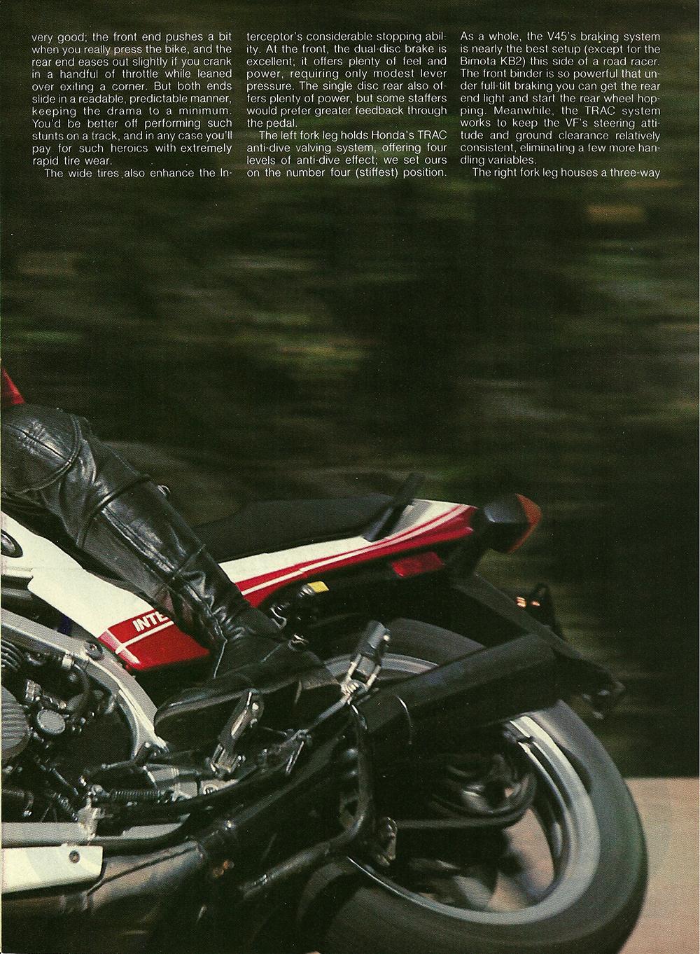 1983 Honda V45 Interceptor road test 04.jpg