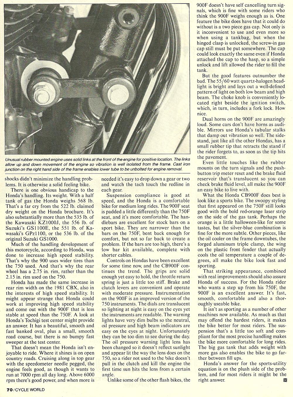 1981 CB900F Super Sport road test 6.jpg