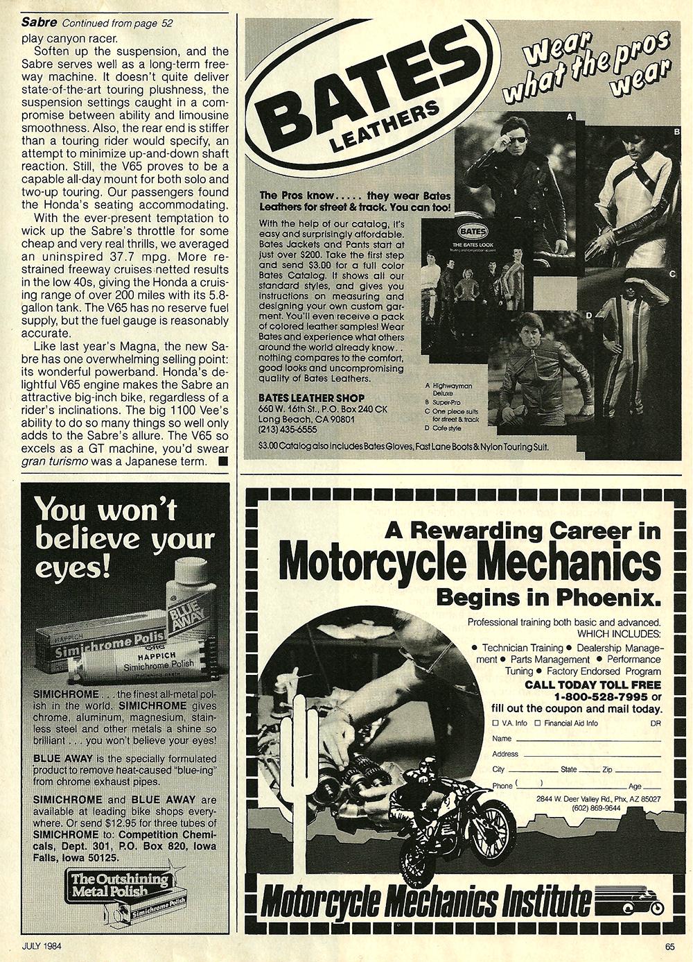 1984 Honda V65 Sabre road test 9.jpg