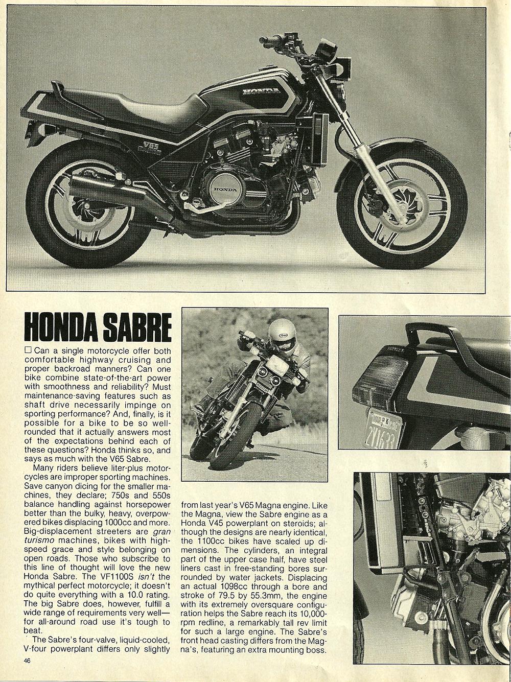 1984 Honda V65 Sabre road test 3.jpg