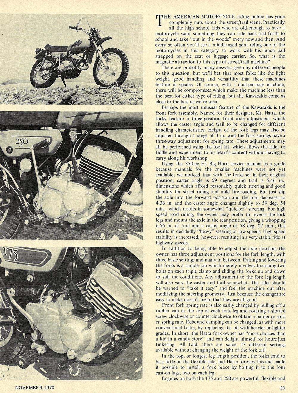 1970 Kawasaki 175E and 250E road test 02.jpg